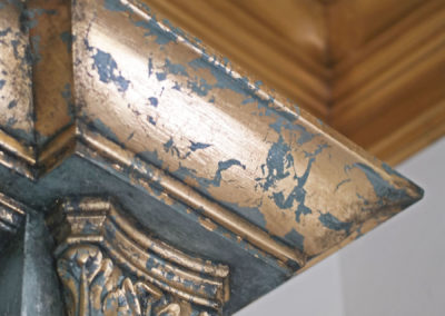 Gilded Crown Molding and Capital Detail, New Orleans